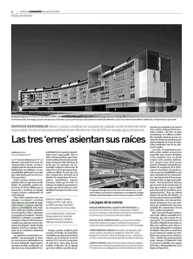 Periódico Expansion 30 octubre 2009